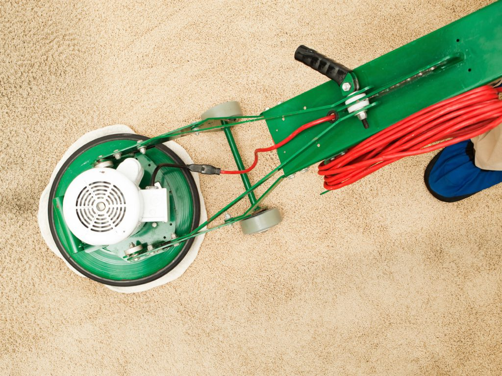 Photo of carpet cleaning