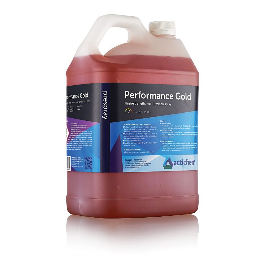 Super-strength prespray detergent for hot water extraction cleaning