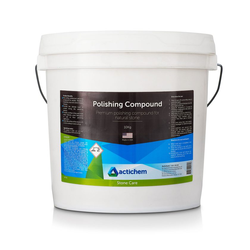 Premium polishing compound for mechanical polishing of natural stone