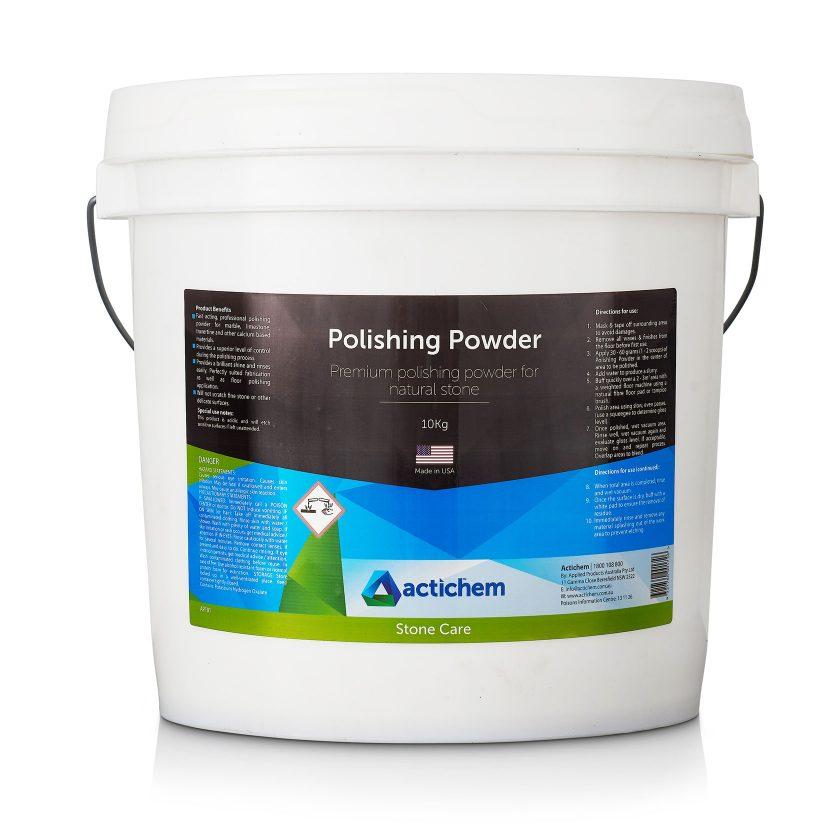 Premium polishing powder for mechanical polishing of natural stone