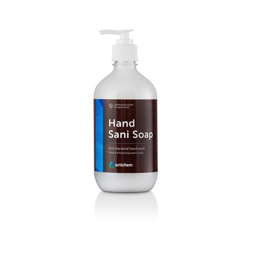 hand sani soap anti-bacterial hand soap in 500ml lotion pump pack