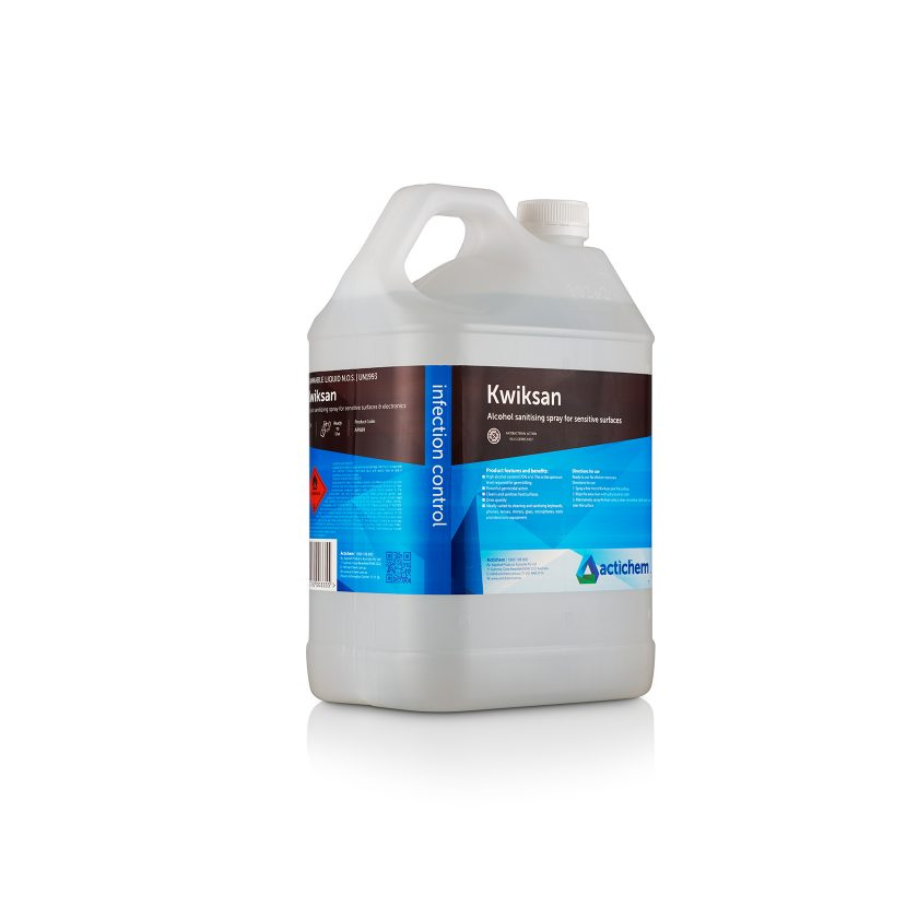 kwiksan alcohol disinfectant in 5lt jerrycan